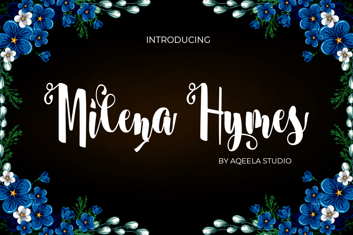 Milena Hymes Script example image 1