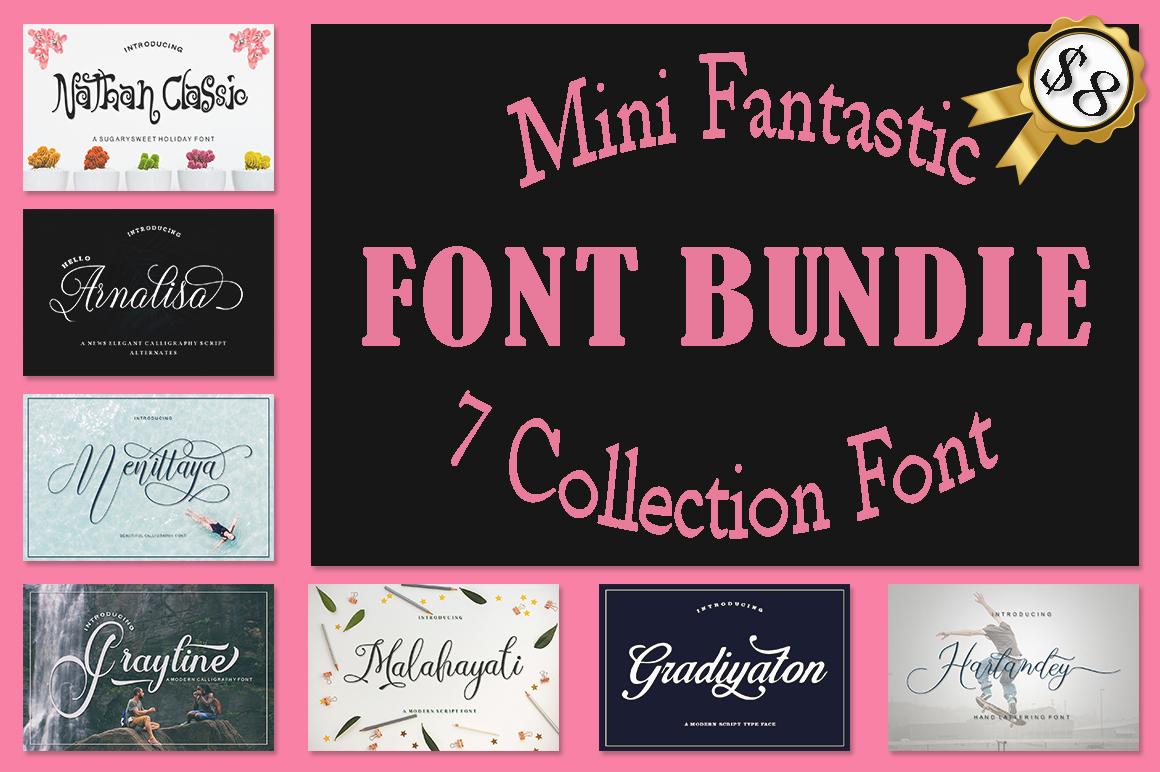 Mini Fantastic Font Bundle 7 Collection Font example image 1