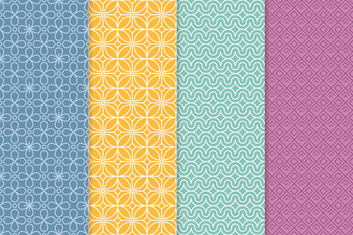 Mono Line Frames and Patterns - Set 14 example image 2