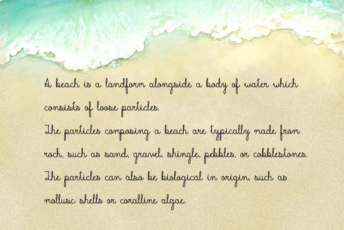 Beachline Multilingual Script Font example image 7