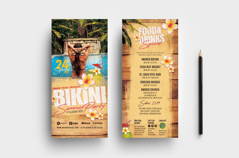 Bikini Party Flyer Template example image 5