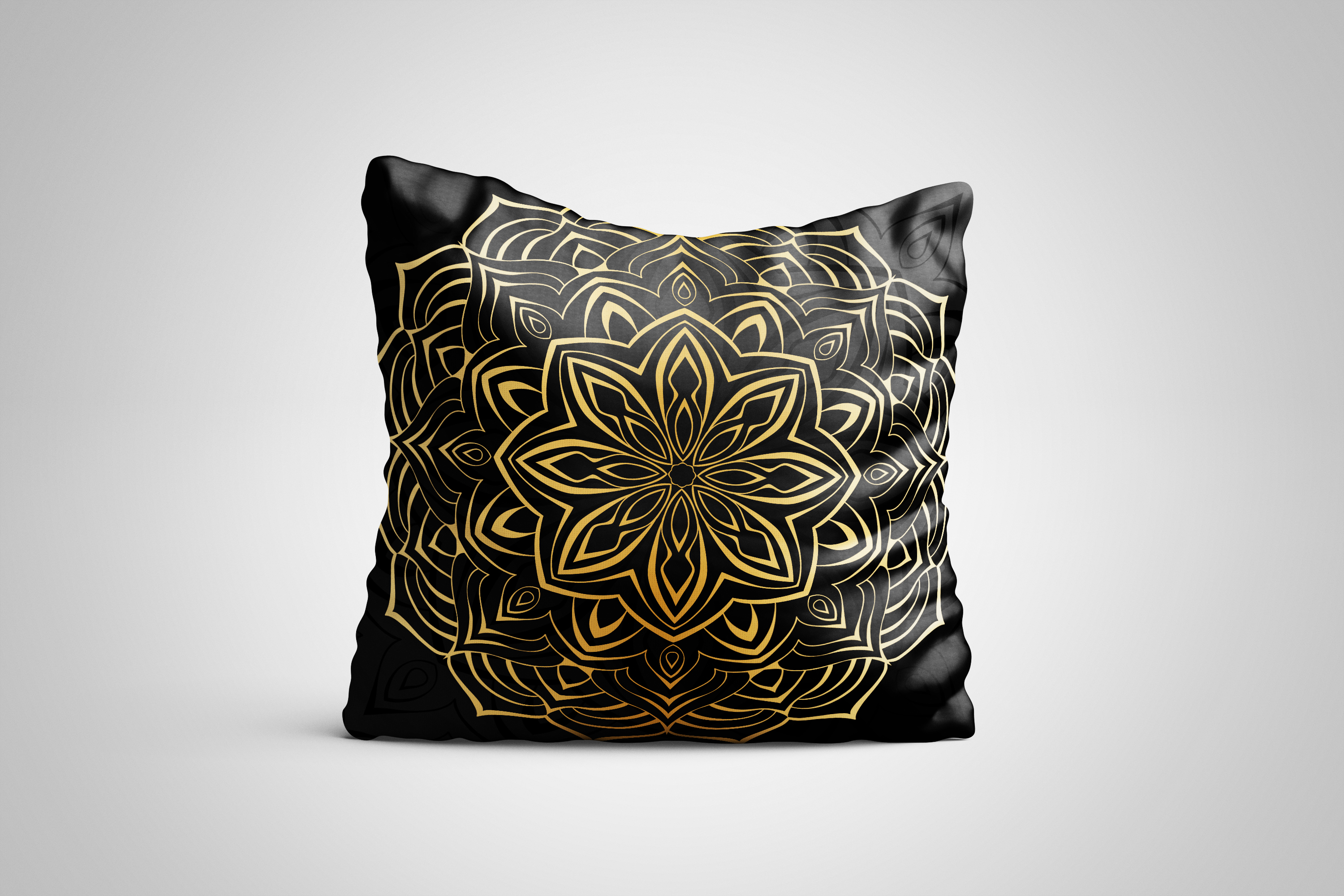 Set of decorative elements. Black and gold example image 5