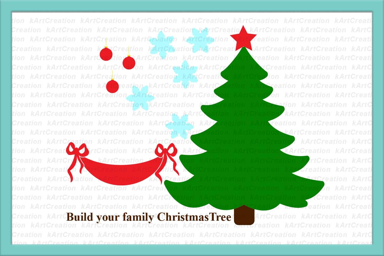 Family tree svg, Christmas tree svg, Family Christmas tree example image 3