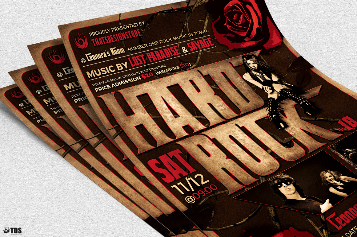 Hard Rock Flyer Template V1 example image 3