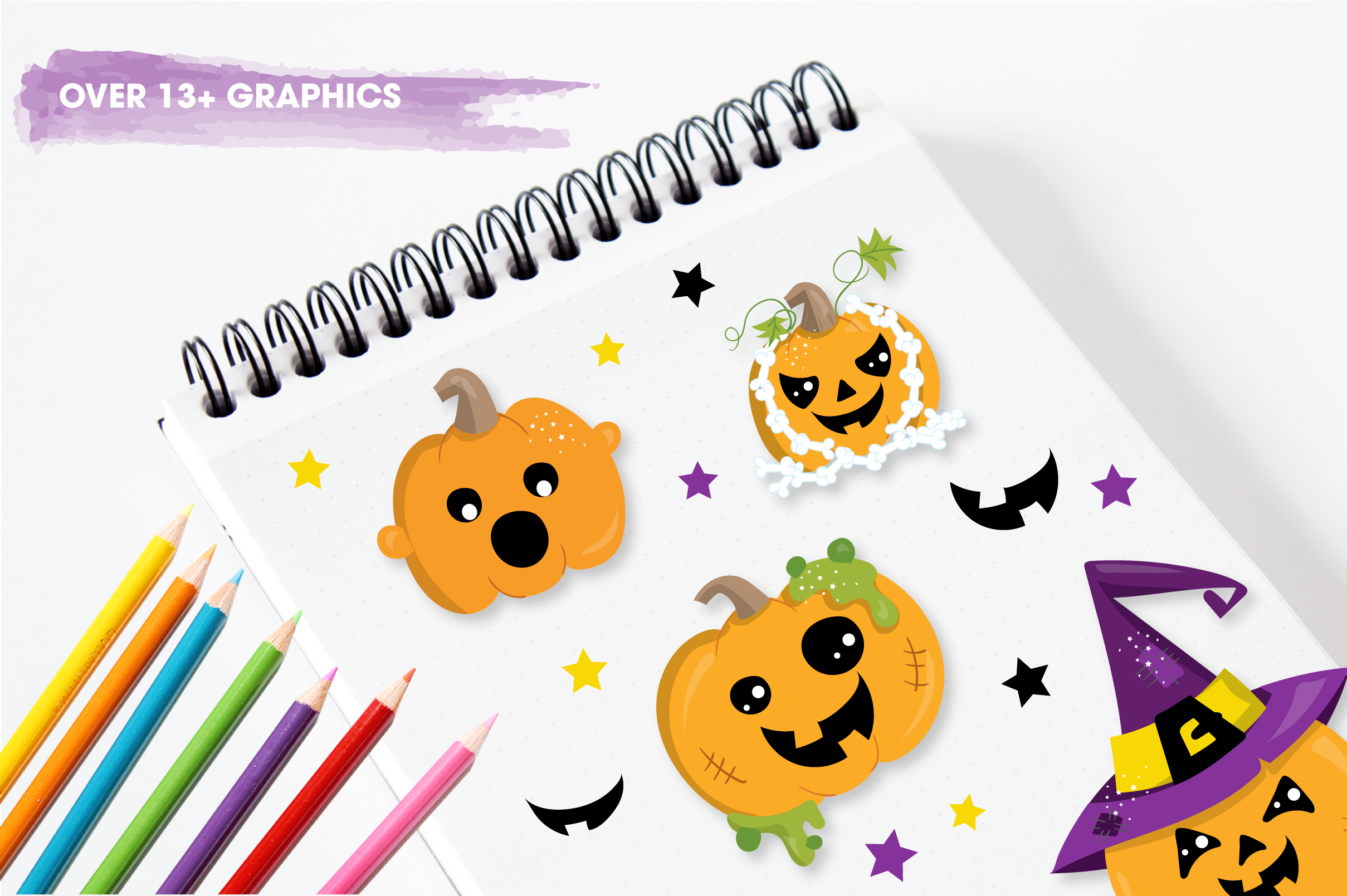 scary pumpkin halloween graphics and illustrations example image 3