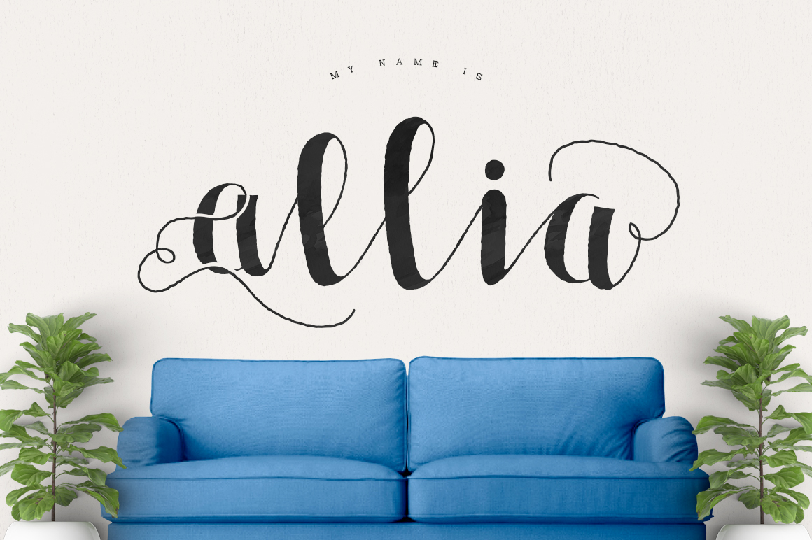 Allia Typeface example image 1