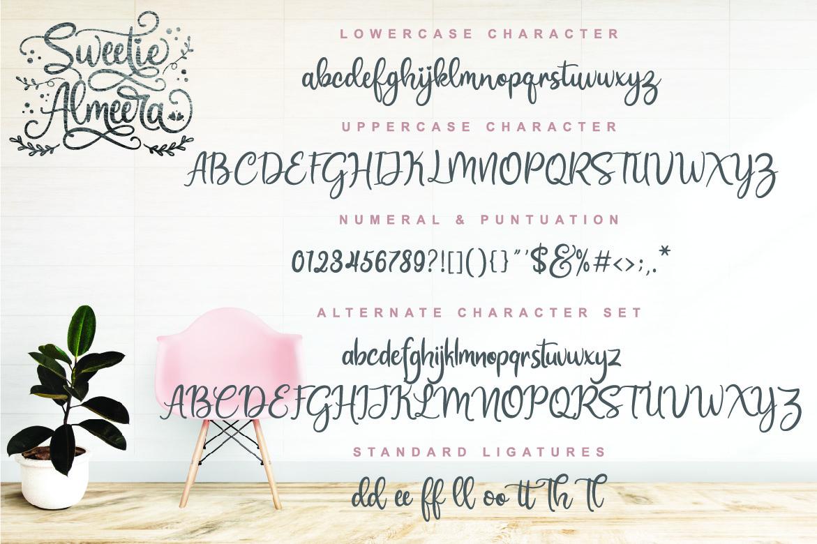 Sweetie Almeera Font Duo example image 2