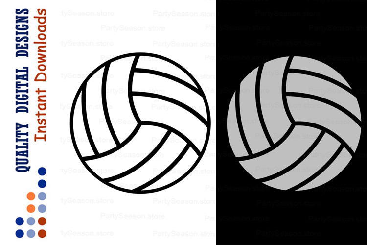 Volleyball ball svg example image 1