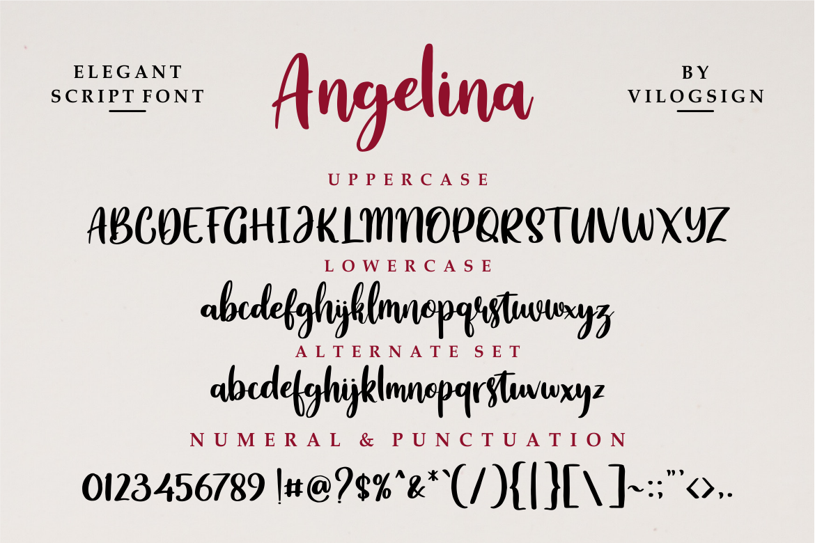 Angelina // Playful Script Font example image 5