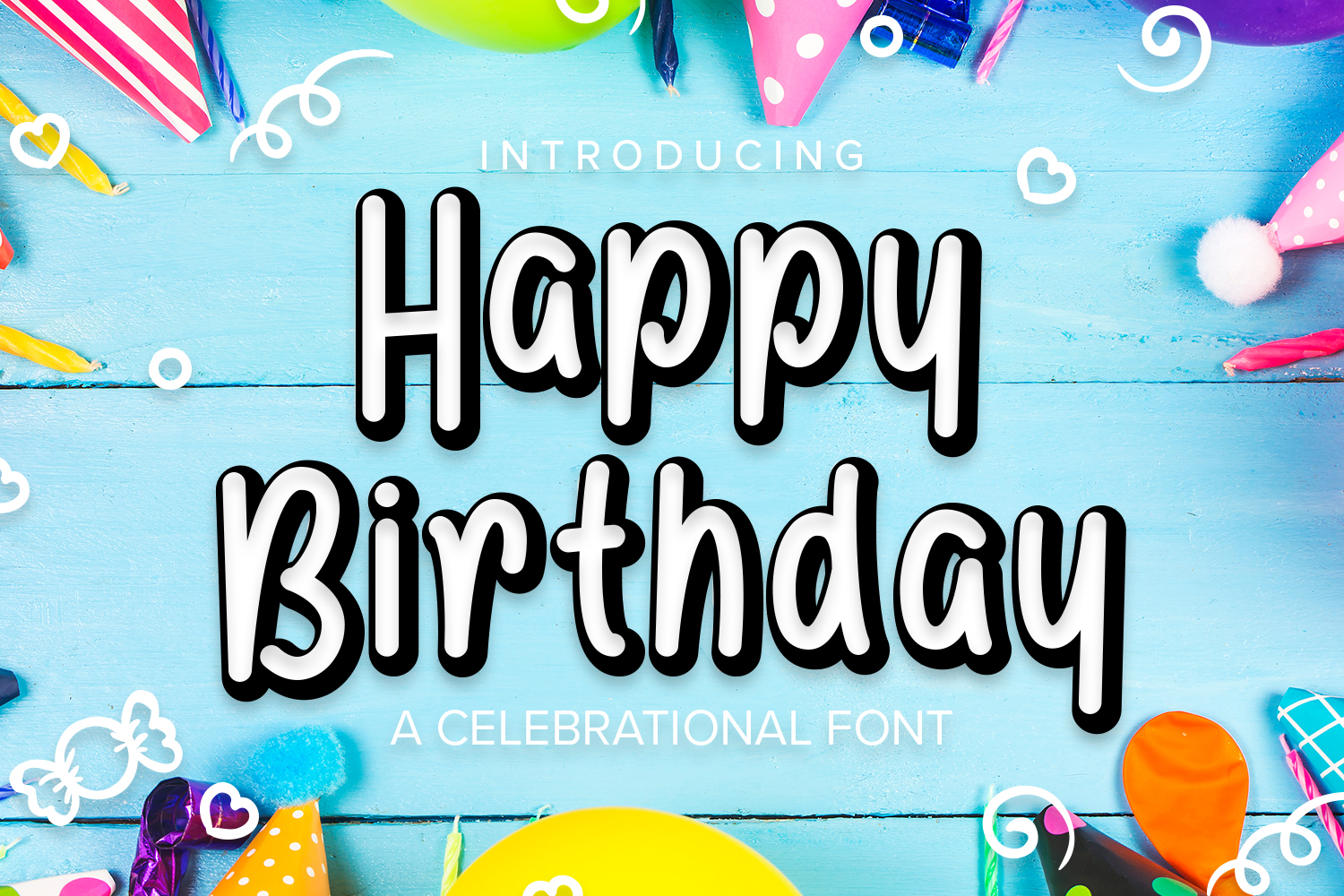 Happy Birthday Font example image 1