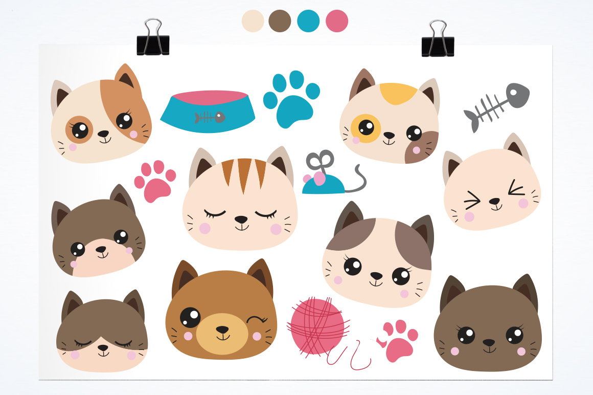 Cats graphic and illustrations example image 2
