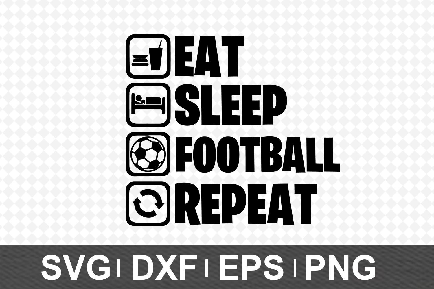 Eat Sleep SVG Bundle example image 5