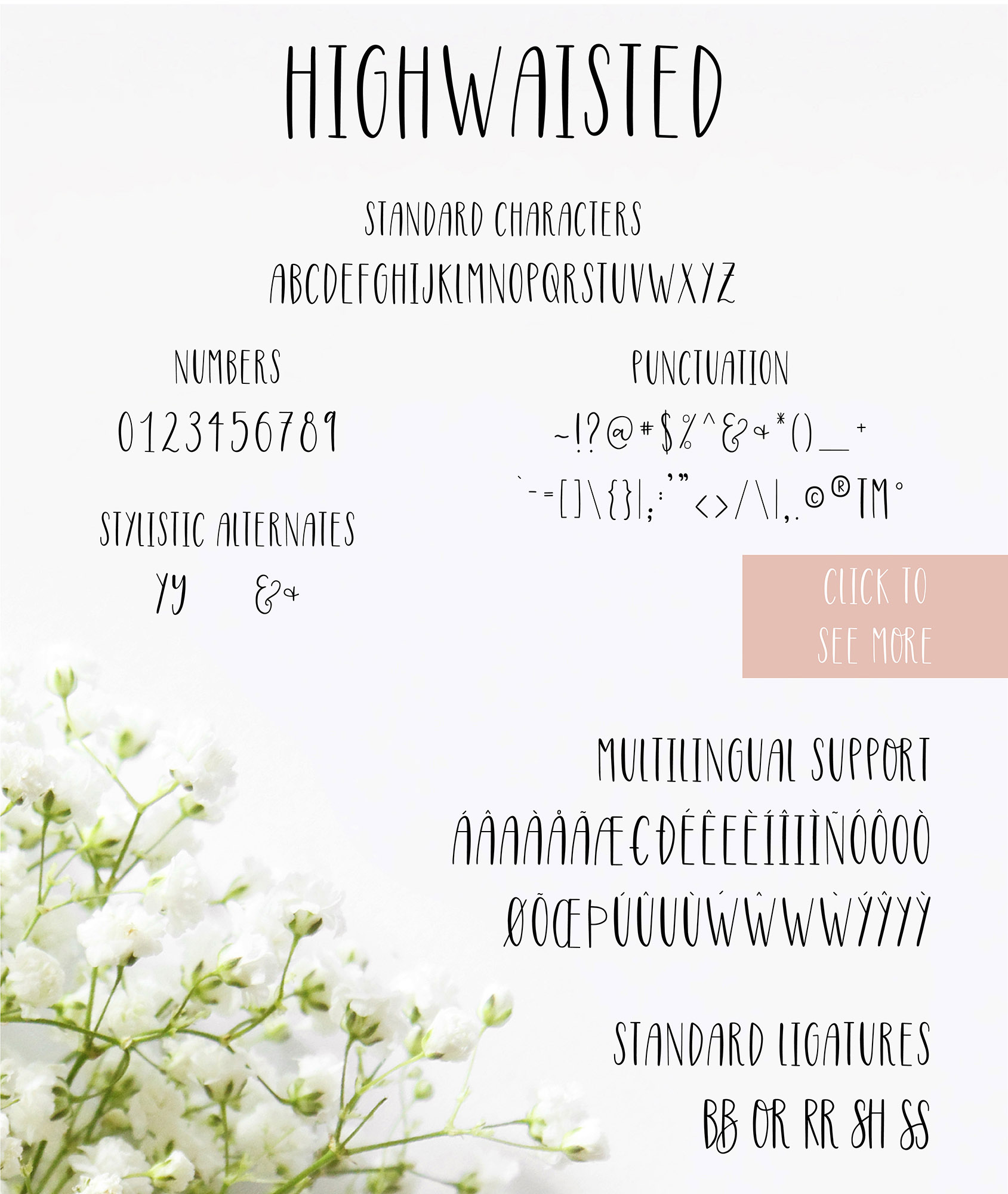 Highwaisted All Caps Skinny Font example image 7
