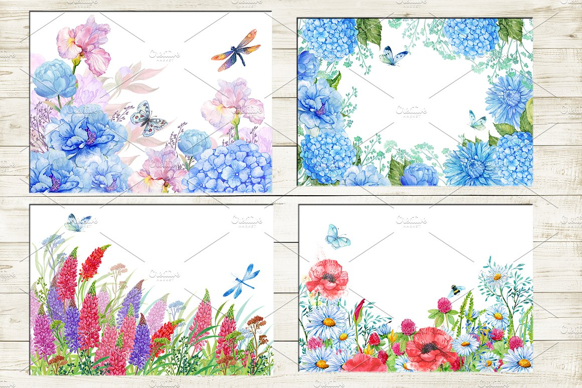 35 floral backgrounds watercolor example image 4