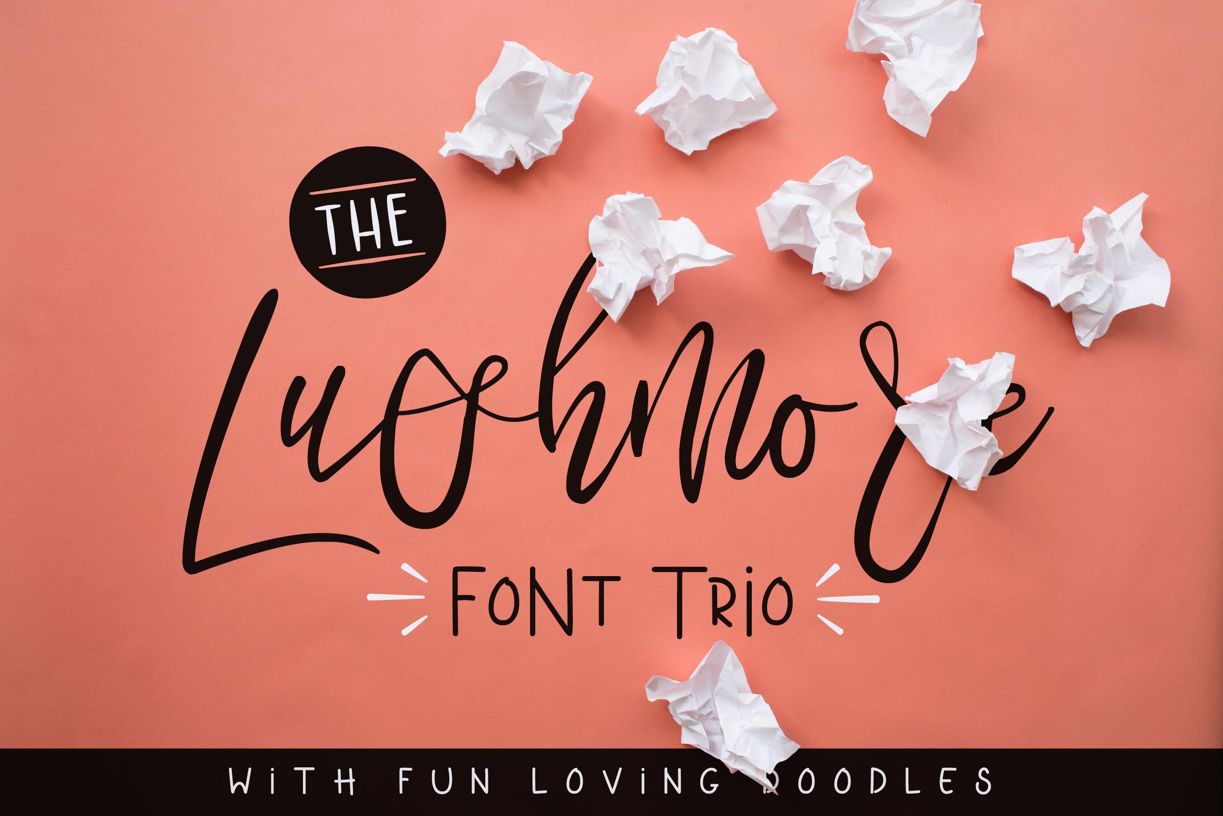 Lushmore Font Trio example image 1