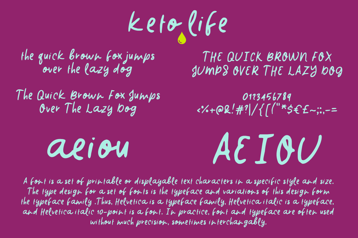 Keto Life Font example image 2