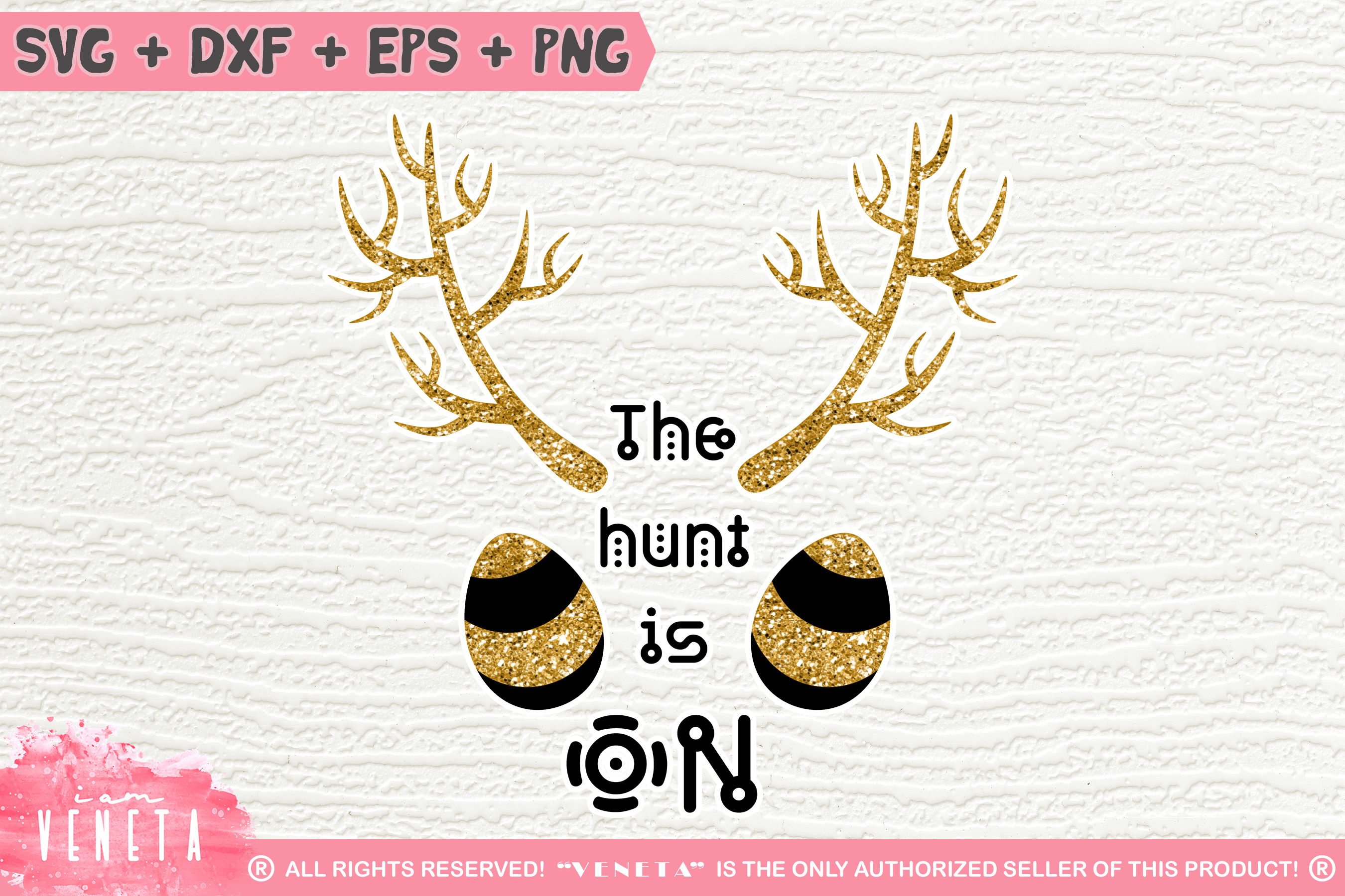The hunt is ON | Easter Hunting | SVG, DXF, Cutting Files example image 1