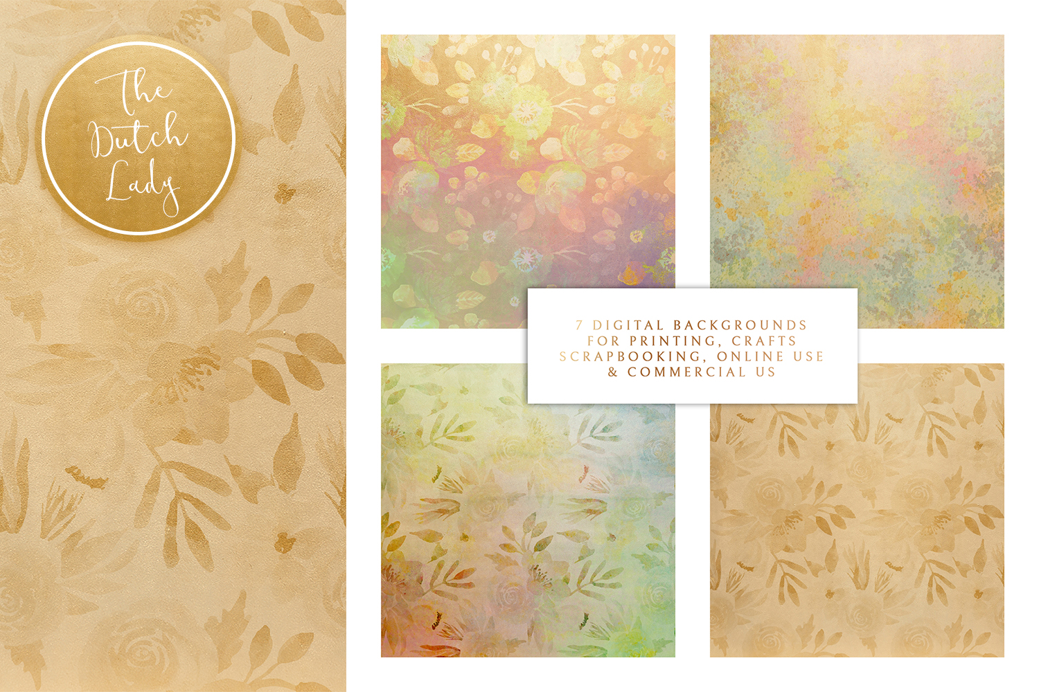 Floral Backgrounds & Paper Designs - Michelle example image 2
