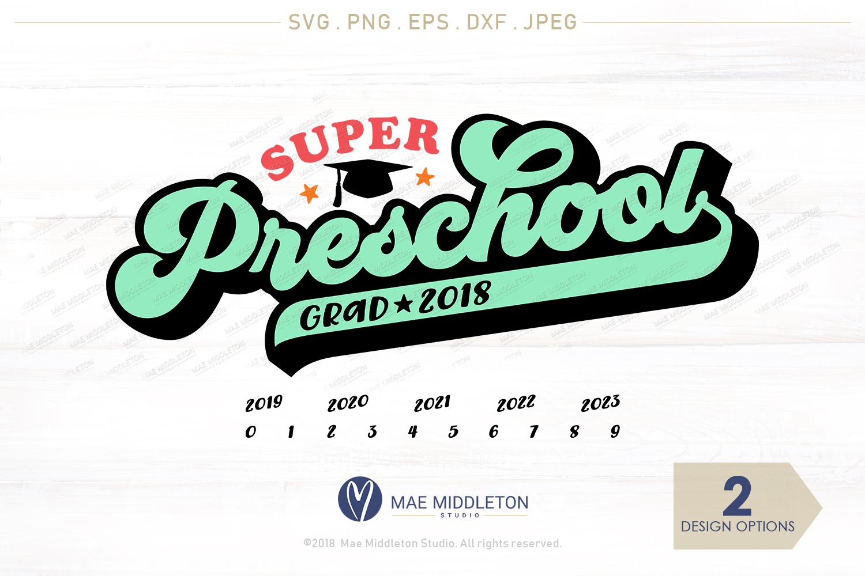 Mini Bundle Preschool, Kinder, Senior Grad - editable years example image 3