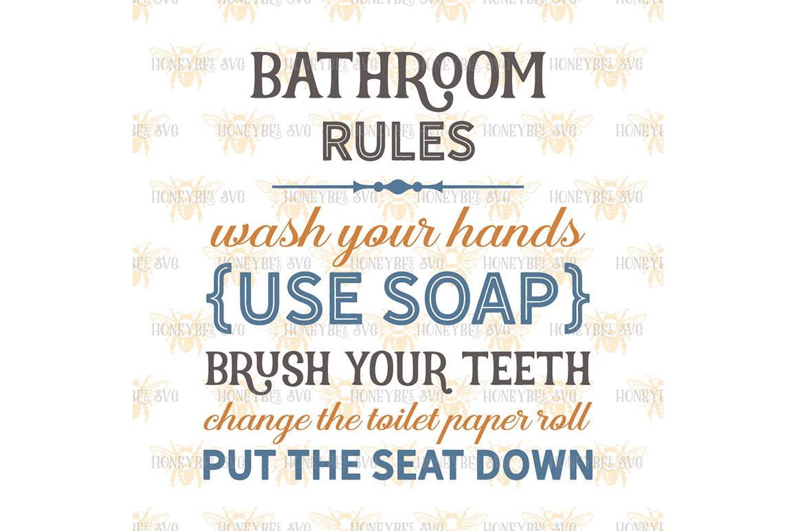 Bathroom Rules example image 2