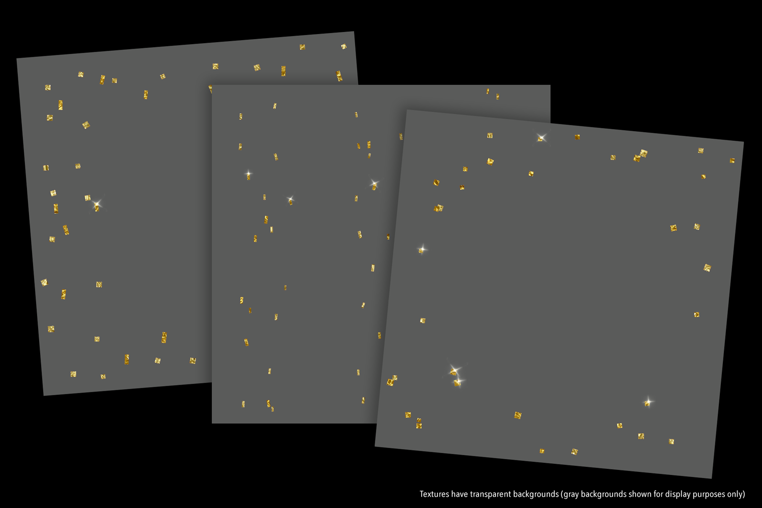Sparkly Gold Confetti (Sparse) - transparent backgrounds example image 7