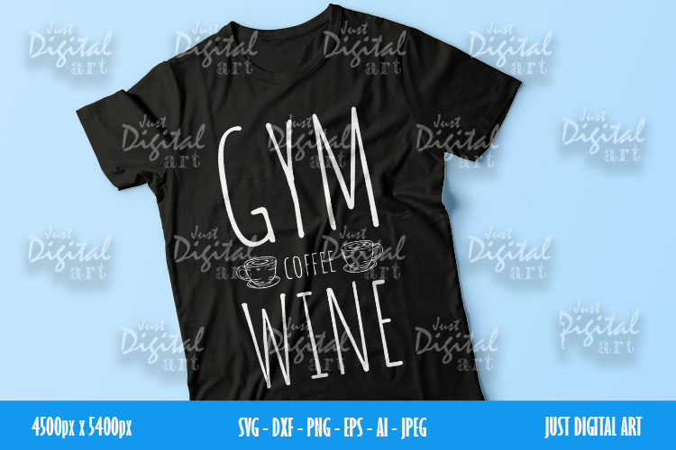 Gym Coffee Wine SVG  PNG   EPS  Coffee  Digital Download example image 2