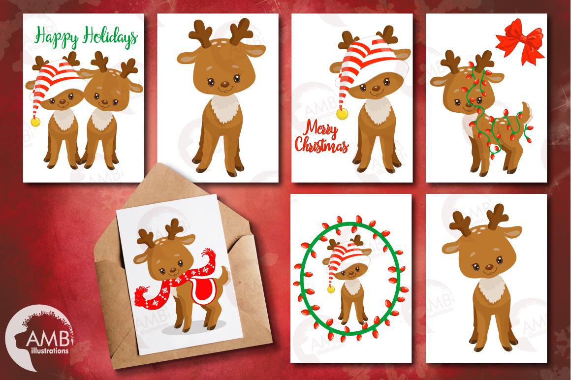 Santa's Baby Reindeer clipart, graphics, illustrationsAMB-1558 example image 2