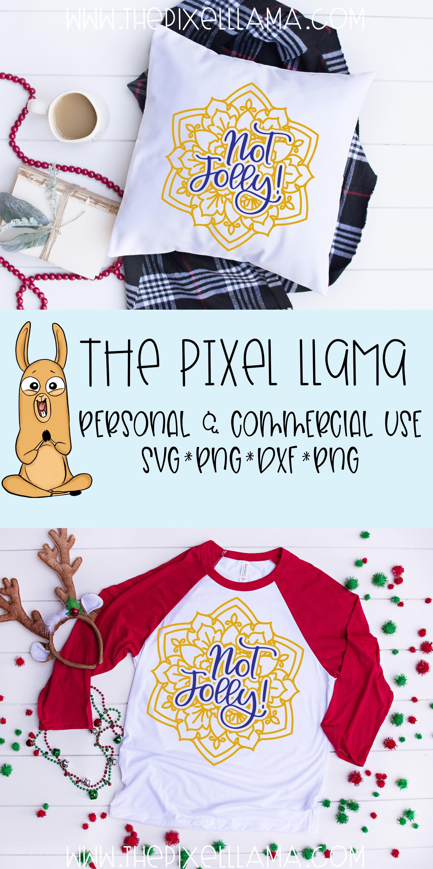 Not Jolly Christmas Mandala SVG example image 3