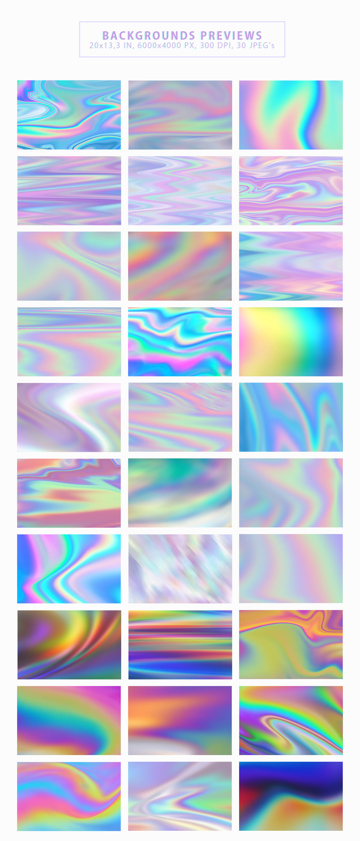 Iridescent Abstract Backgrounds example image 2