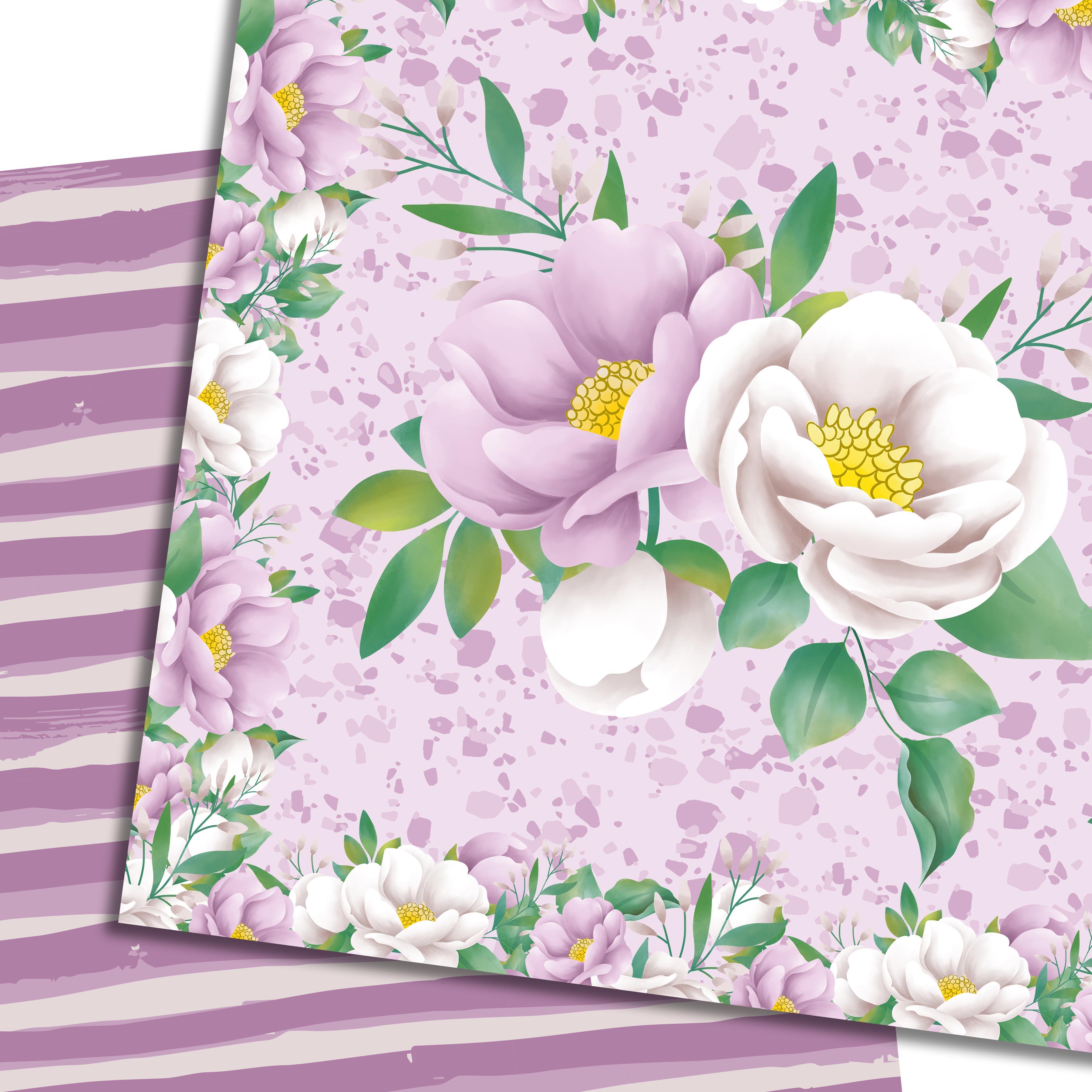 Purple flowers paper example image 3