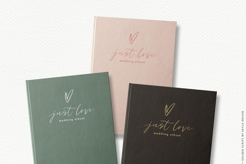 Golden, a romantic wedding script font example image 3