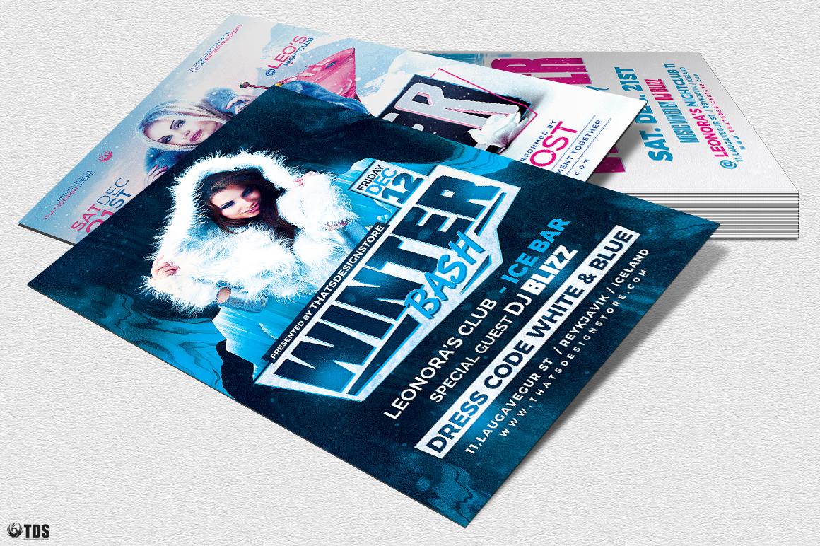 Winter Bash Flyer Bundle example image 7