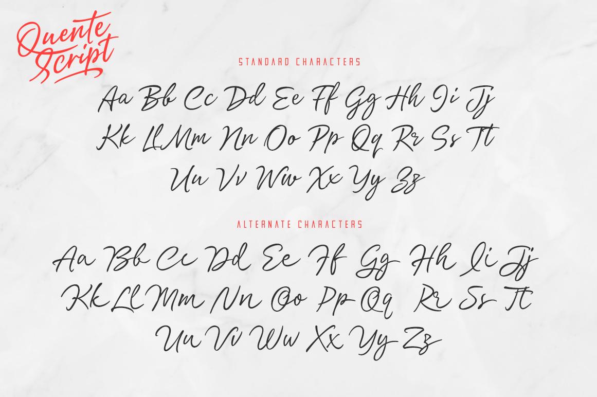 Quente Script & Tamigos example image 12