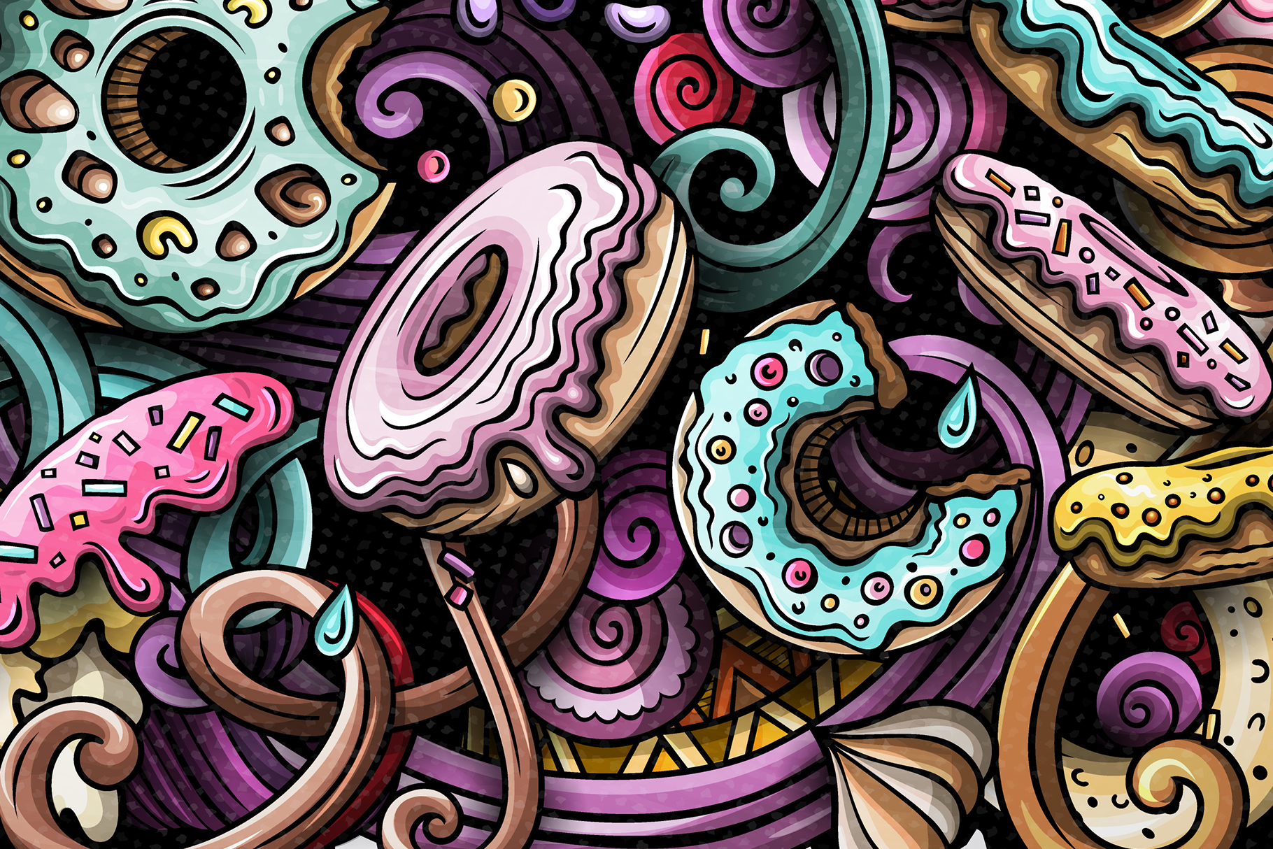 Donuts Vector Doodle Illustration example image 3