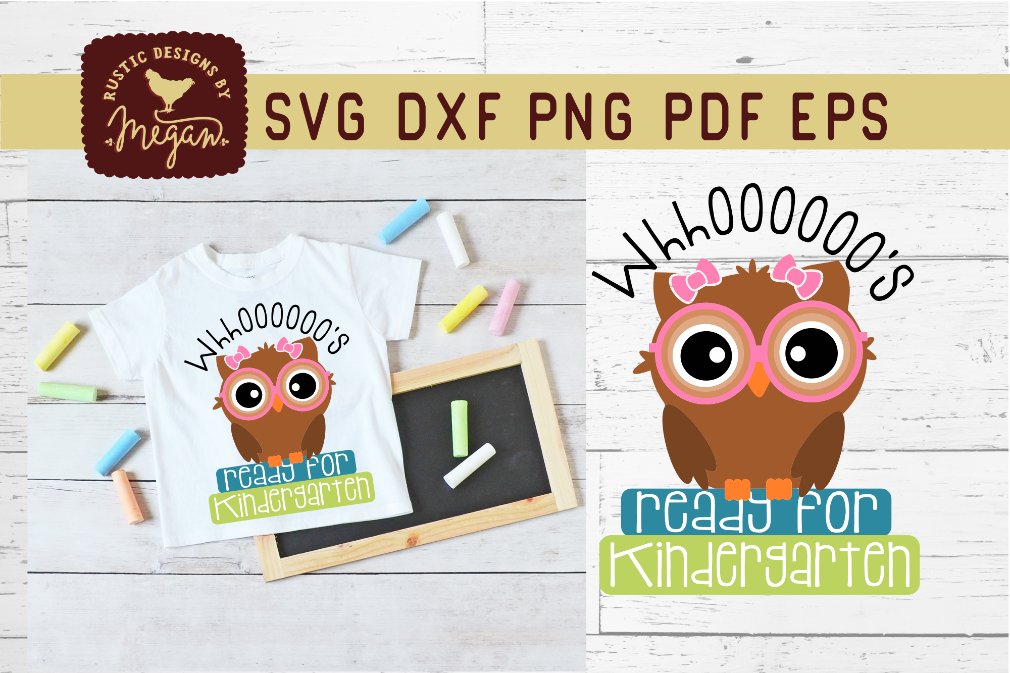 Whooos Ready For Kindergarten Back To School Owl SVG example image 1