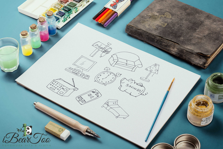 Furniture SVG Bundle Clipart Home Doodle Vector Cut Files example image 8