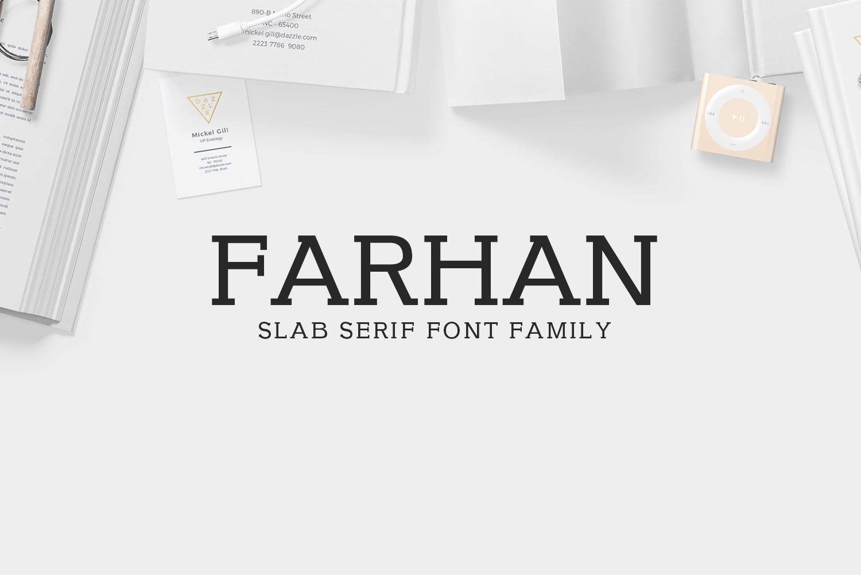 Farhan Slab Serif 5 Font Pack example image 1