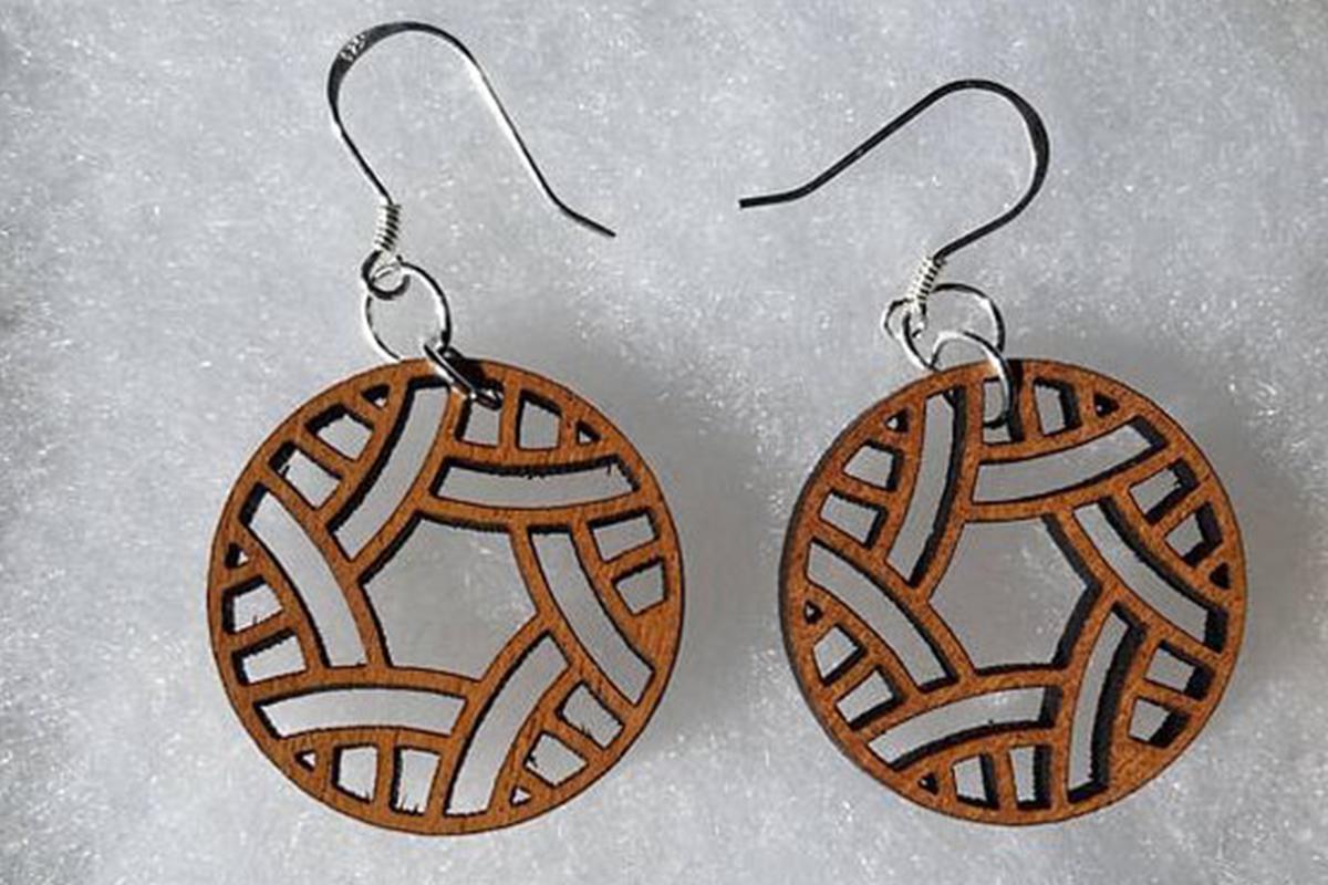 Wood Earrings SVG - Leather Earrings SVG - Earrings Bundle example image 8