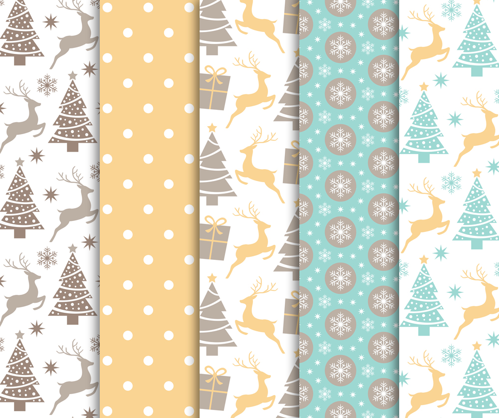 Christmas Digital Paper Pack / Backgrounds / Scrapbooking / Patterns / Printables / Card Making example image 5