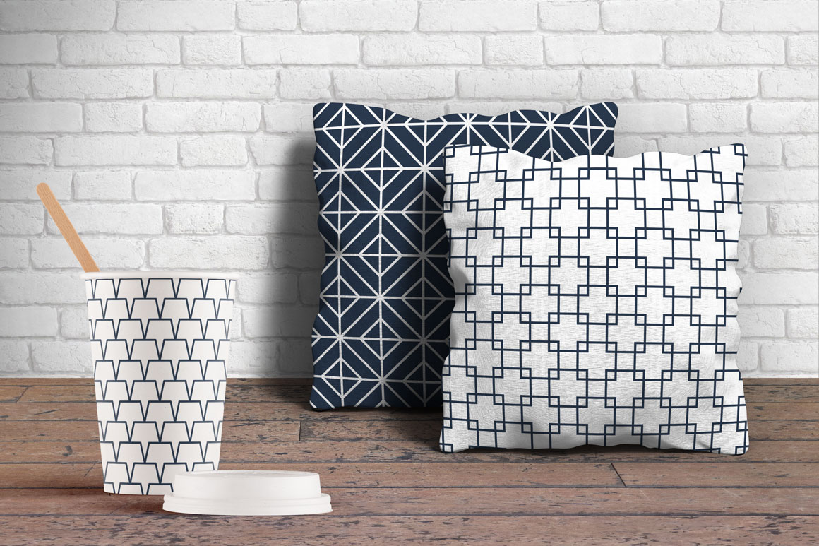 Vector seamless geometric patterns example image 3