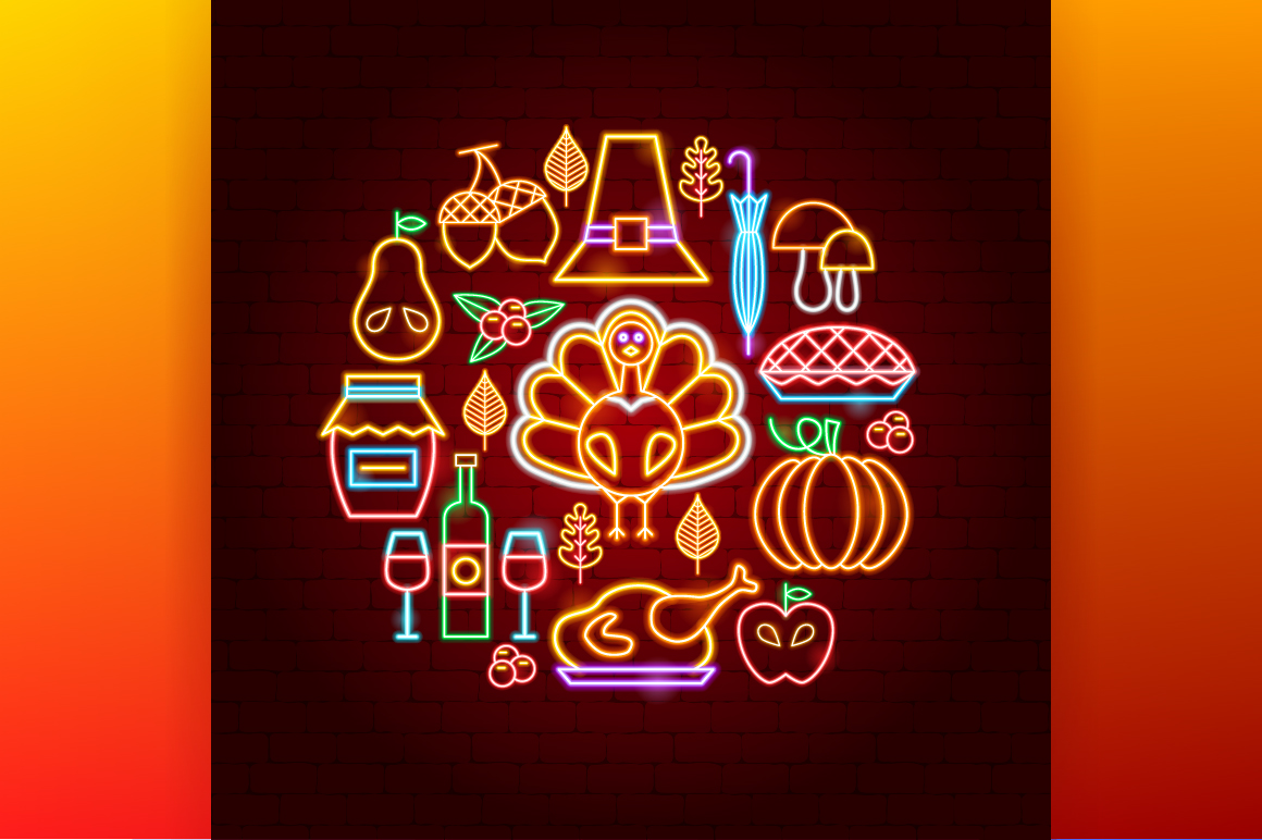 Thanksgiving Day Neon example image 5