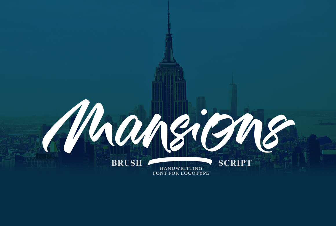 Mansions Brush Script example image 1