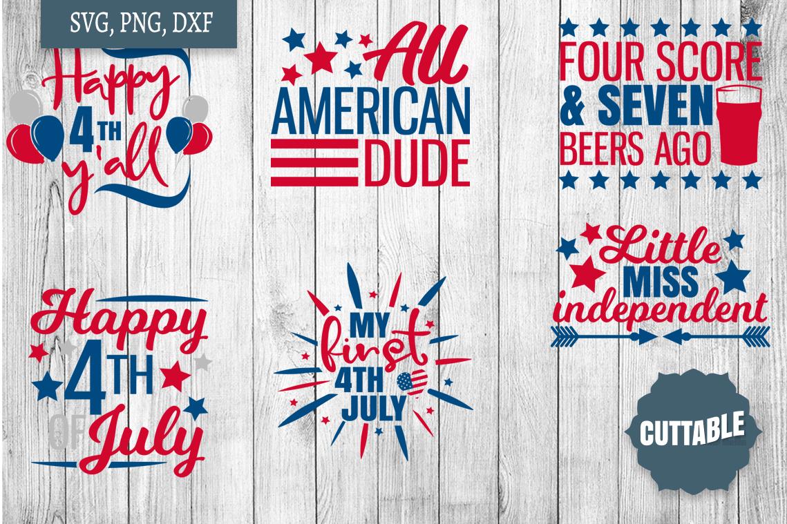 Fourth of July SVG Bundle, Independence day cut file bundle example image 2