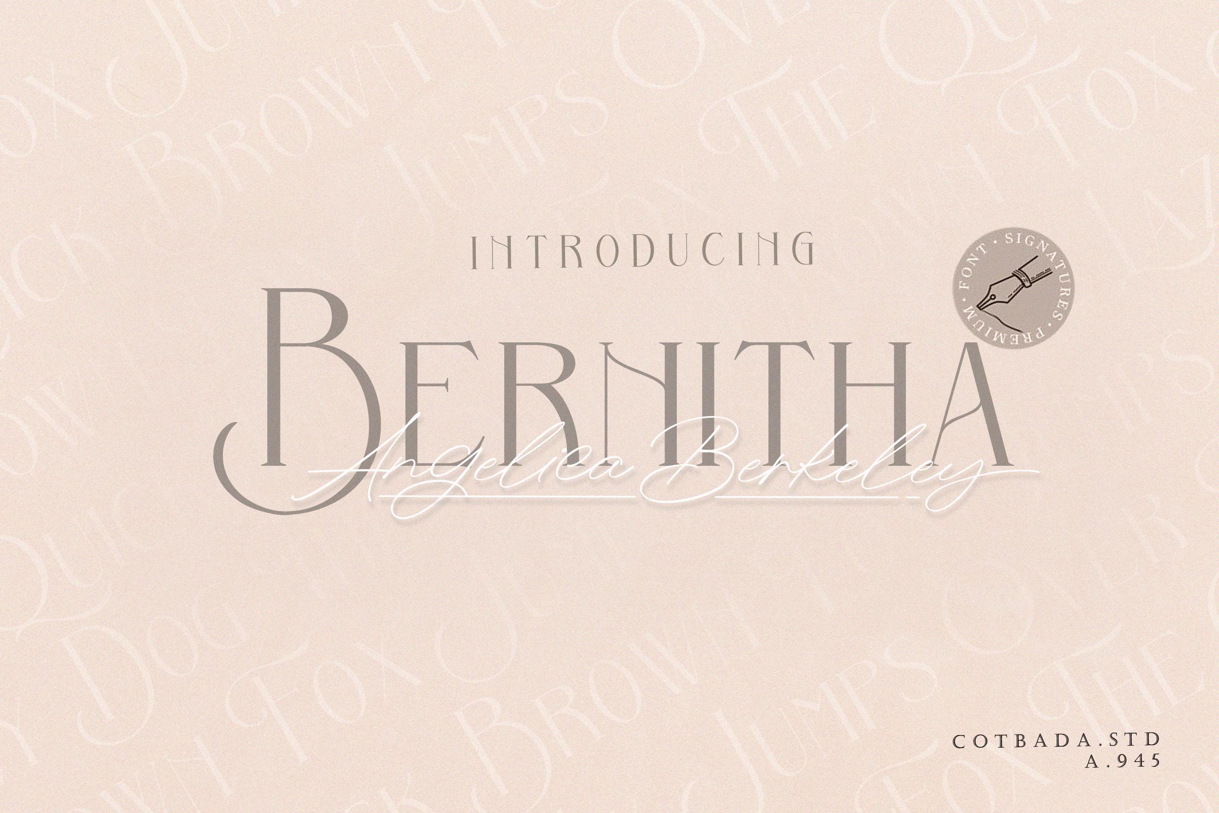 Bernitha Angelica Berkeley DUO FONT example image 1