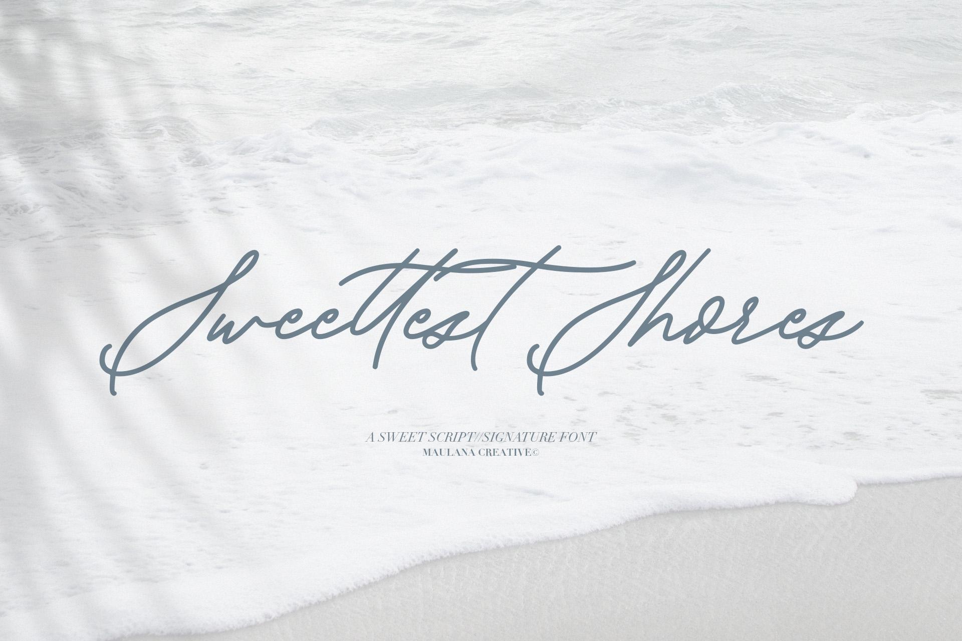 Sweetshore Casual Script Font example image 5