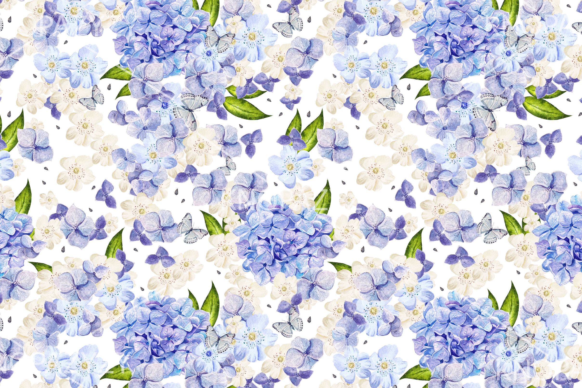 15 Hand Drawn Watercolor PATTERNS example image 8
