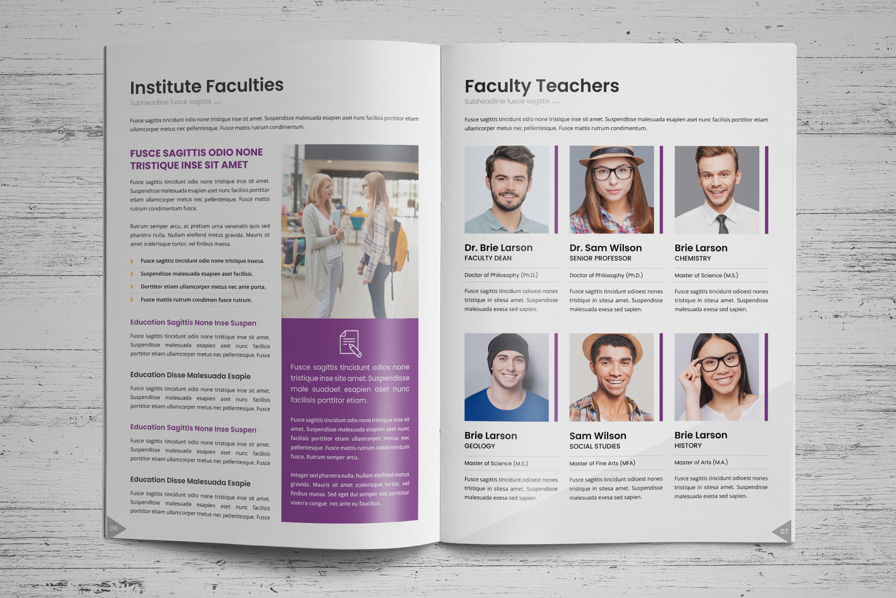 Education Prospectus Brochure v7 example image 4
