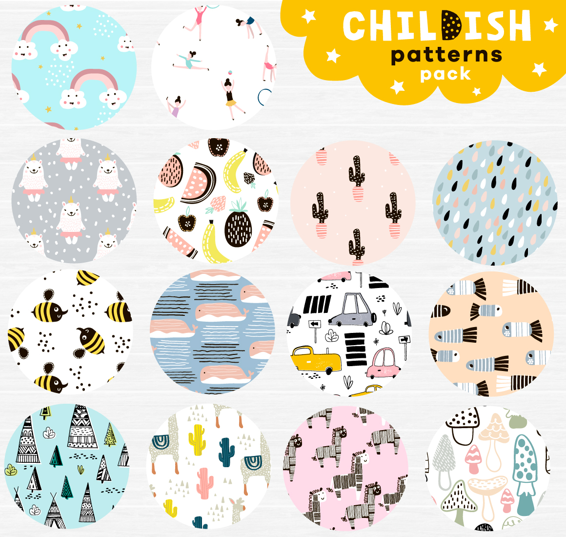 Childish patterns pack vol. 2 example image 3