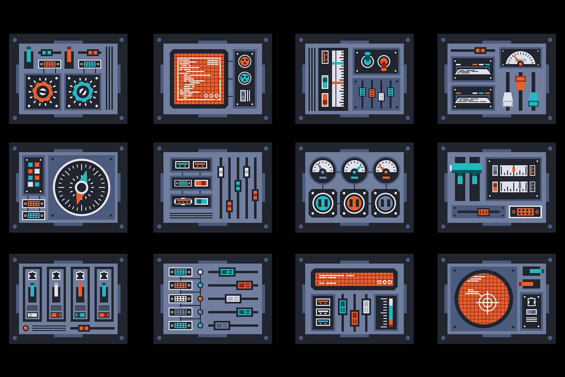 Control Panels Spaceship example image 3