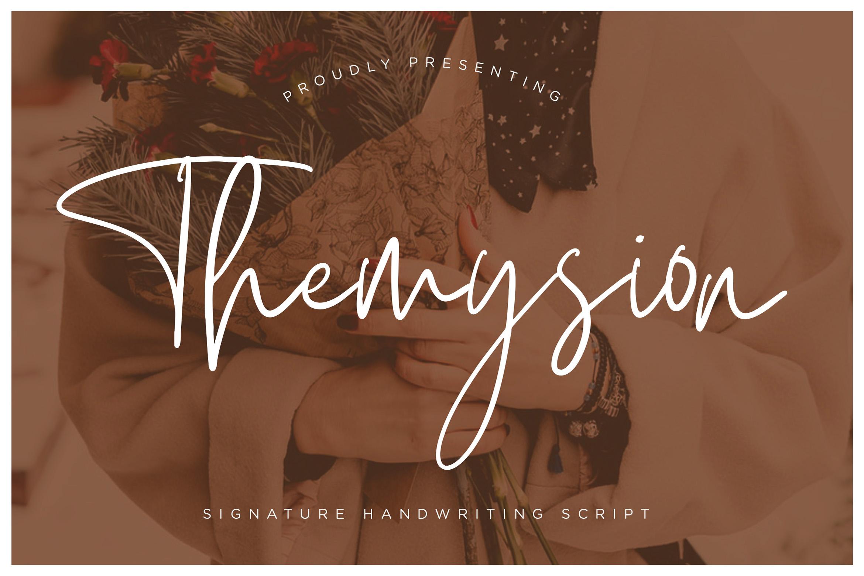 Themysion Signature Handwriting example image 1